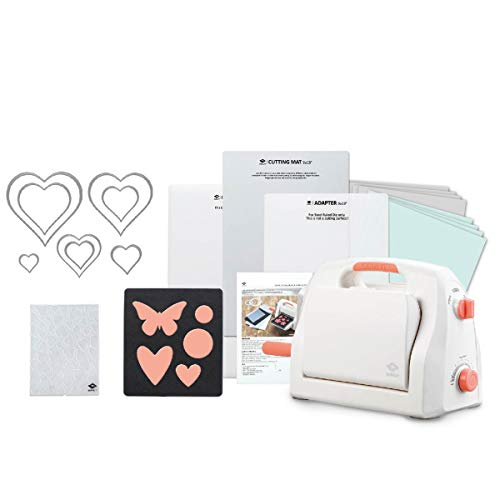 "Bira Craft Adjustable Die Cutting & Embossing Machine Starter KIT, 9"" Opening, Paper, Fabric and Other Materials (Starter Kit)"