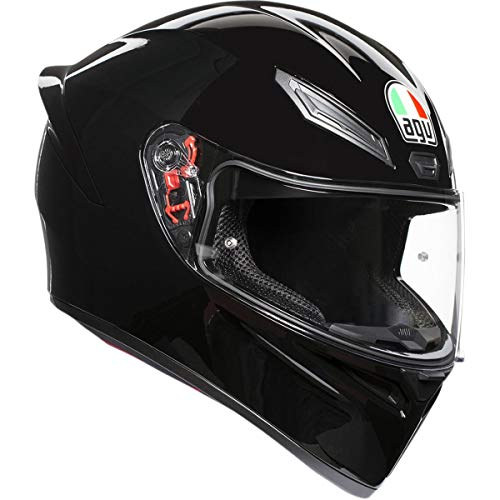 AGV Unisex-Adult Full Face K-1 Motorcycle Helmet (Black, X-Large)