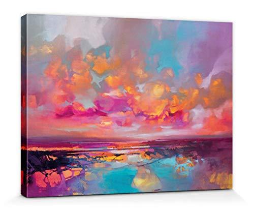 1art1 Scott Naismith - Fractal Shore Bilder Leinwand-Bild Auf Keilrahmen   XXL-Wandbild Poster Kunstdruck Als Leinwandbild 40 x 30 cm