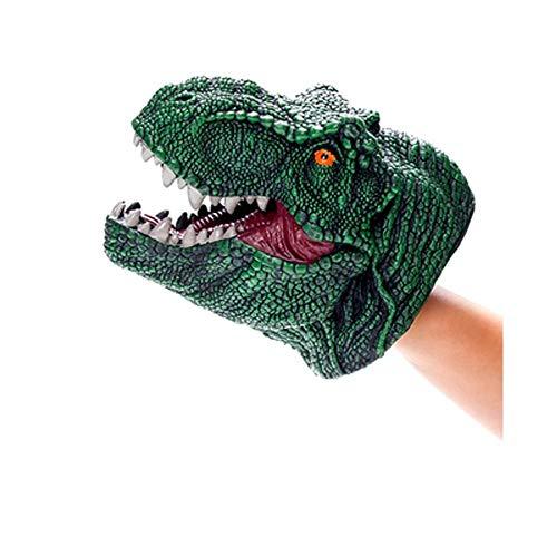 HUOQILIN Weiches Spielzeug Dinosaurier Handpuppe Spielzeug Weiches Gummitier Performance Materialien Simulation Rollenspiel (Color : A)