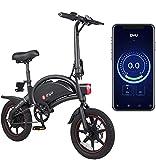 DYU D3 PLUS Bicicleta eléctrica plegable, bicicleta inteligente para adultos, 240 W, aleación de aluminio, extraíble 36 V/10 Ah batería de iones de litio con 3 modos de conducción