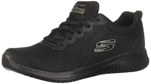 Skechers Ultra Flex-Free Spirits, Zapatillas Mujer, Negro (BBK Black Mesh/Hot Melt/Trim), 39.5 EU