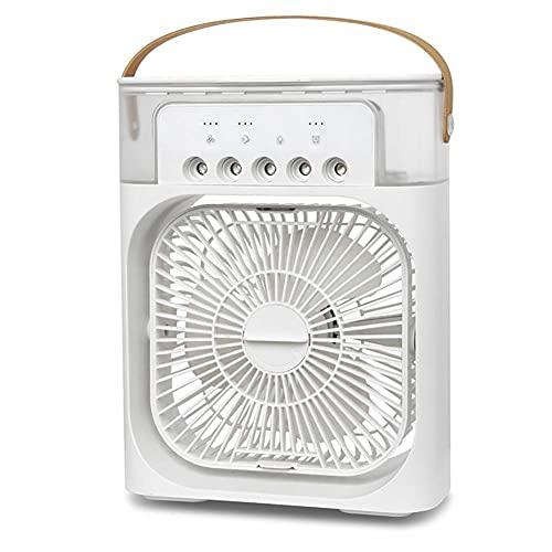 Ventilatore di Aria condizionata Portatile, Mini evaporatore Silenzioso, Adatto per Ufficio, Famiglia, Camera, dormitorio, Dispositivo di Raffreddamento dell'Aria Personale,White,Standard