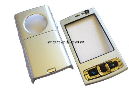 Nokia N95 8GB Sostituzione piastra frontale e posteriore per cellulare OEM Custodia Coperchio piastra ( Silver / Argento)