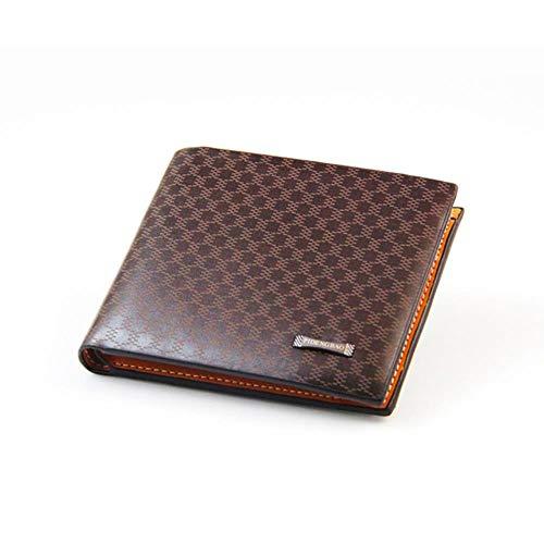Erfhj herenportemonnee, korte dubbele portemonnee, business casual, creditcard-etui