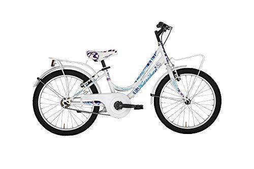 "Alpina Bike Kariba, Bicicletta 6v Bambina, Bianco, 20"""