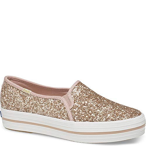 Keds x Kate Spade New York Triple Decker Glitter. Women 5.5 Rose Gold