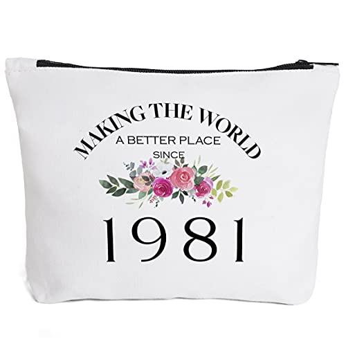 40th Birthday Gifts for Women Daughter Bestie Mom Aunt BFF Friends Teacher Boss Coworker-Making The World Since 1981- 40 Years Old Gifts Ideas For Women Turning 40 for Wife Sisters Her