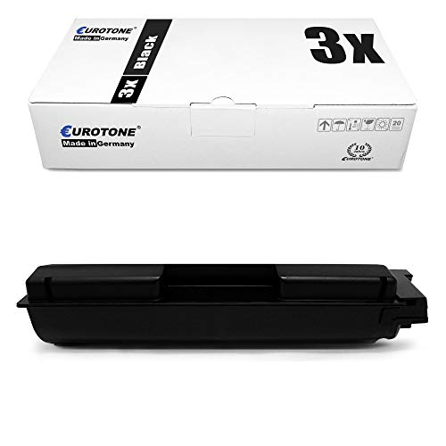 3X Eurotone Toner für Kyocera Ecosys ECOSYS P6130 ECOSYS M6030 ECOSYS M6530 ECOSYS P6030 ECOSYS M6530 ECOSYS M6530cdn wie 02NR0NL0 1T02NR0NL0 Black