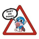 A/X Adesivo per Auto 13 cm 11,7 cm Captain America Baby On Board Adesivi per Auto Super Hero Marvel Car Styling Decalcomanie di avvertenza per paraurti per finestre