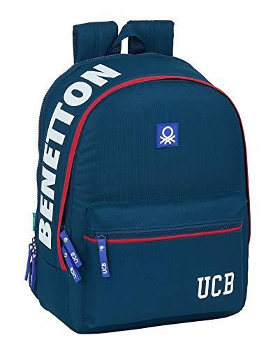 Benetton Navy Safta School Backpack Adaptable to Cart, 320 x 140 x 430 mm