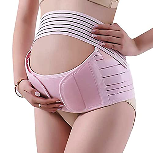 Elastic Belly Band for Pregnancy, 3-in-1 Multifunctional Maternity Belt for Back & Waist & Pelvic Pain Relief and Postpartum Recovery,Maternity Support Bands for Women (X-Large Size) Lightweight Breathable Adjustable