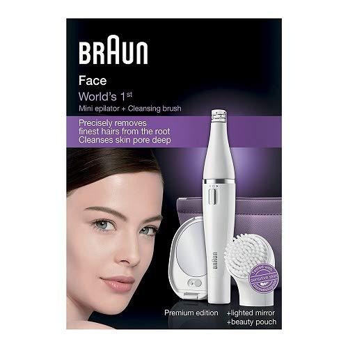 Braun Face 830 - Depiladora facial con cepillo de limpieza, color blanco