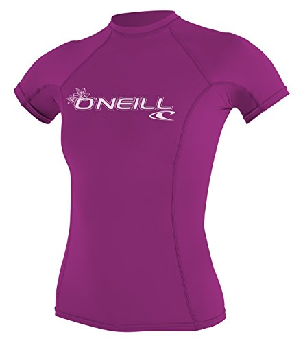 O'Neill Wetsuits Women's O'Neill Basic Skins UPF 50+ Short Sleeve Rash Guard, Fox Pink, S