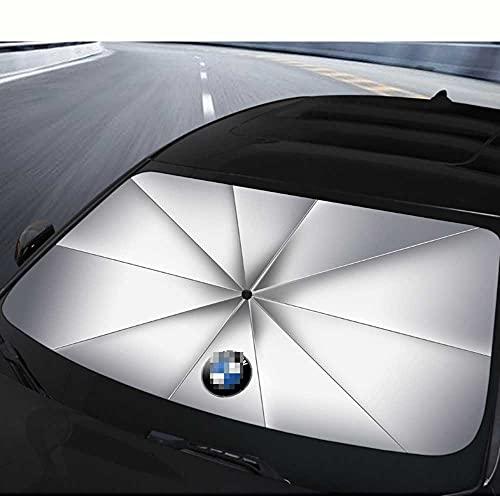 MIOAHD Parasol para salpicadero de Coche, Parasol para Ventana Frontal, Parabrisas, Parasol Plegable, protección Solar, Apto para BMW Serie 3517