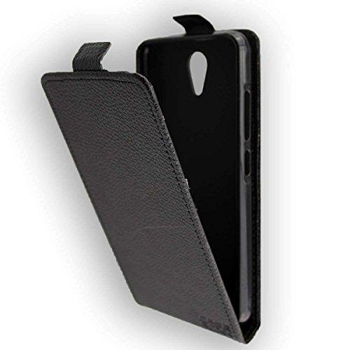 caseroxx Flip Cover für Archos 50f Neon, Tasche (Flip Cover in schwarz)