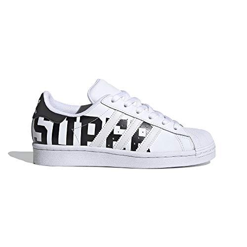 adidas Superstar J - Zapatillas deportivas para niño, color blanco