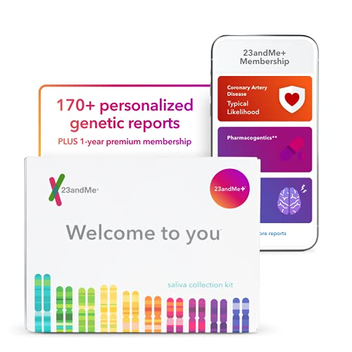 23andMe+ Premium Membership Bundle: Personal Genetic DNA Test Including full Health + Ancestry Service plus 1-year membership access to exclusive reports (Before you buy see Important Test Info below)