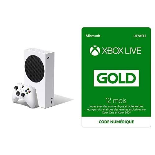Xbox Series S + Xbox Live Gold 12 mois (Xbox Live - Code jeu à télécharger)