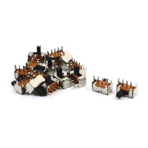 sourcingmap 15 pz 3 pin 2 posizione spdt pannello pcb orizzontale interruttore a slitta di montaggio