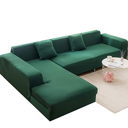 MKMKL Funda elástica para sofá, protector de muebles, suave con parte inferior elástica, fácil de llevar, verde, L