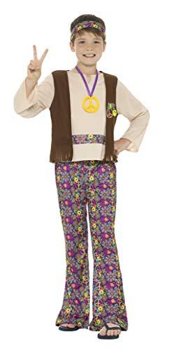 Smiffys Hippie-Kostüm für Jungen, mit Oberteil, angenähter Weste