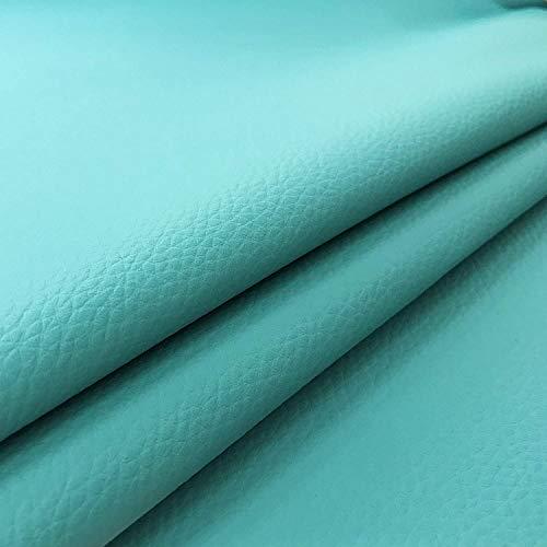 Ecopelle (3 Pezzi) Morbida Finta Pelle per arredo Divani Sedie Tessuto per Le Tecniche di Imbottitura e Rivestimento 44 x 83 Verde Laguna