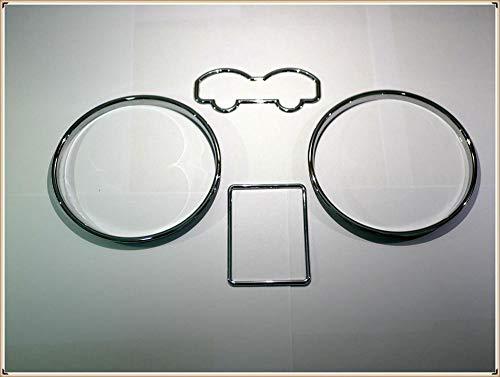 JUJIANFU WJW-YIBIAO, Dial Chrome Tachomesser Ringe gepasst for Bezel Trim Chrom Tacho Ringe gepasst for VW MK4 Fit for Golf Fit for Passat 3B B5 T4 Van (Color : Chrome)