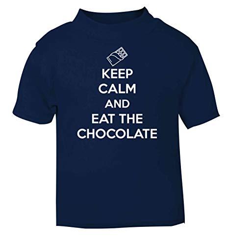 Flox Creative T-shirt pour bébé Keep Calm and Eat The Chocolate - Bleu - 2 ans