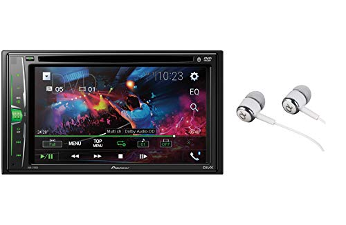 "Pioneer AVH-210EX Double DIN Bluetooth In-Dash DVD/CD AM/FM Front USB Digital Media Car Stereo Receiver 6.2"" WVGA Touchscreen Display, Apple iPhone and Android Music Support"