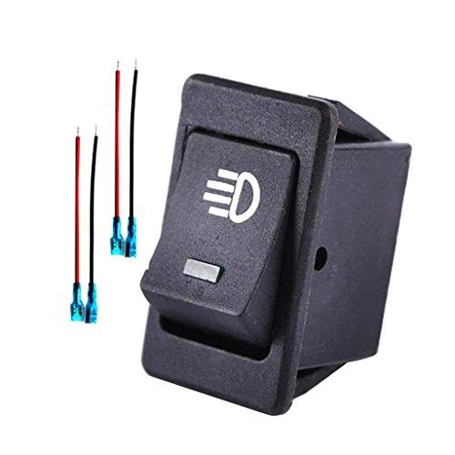 B Blesiya 4pins Led On/Off Interruptor Basculante Interruptor de Luz de Niebla/Trabajo Barra de Luz Azul