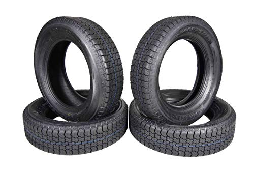 MASSFX ST205/75D15 Bias 6 Ply Trailer Tire Set of 4 Tires 205/75-15