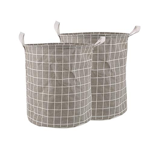 HONG Collapsible Laundry Baskets For Bedrooms Laundry Basket Bag Lightweight Portable For Dirty, Laudries, Toys, Ect(2PS)