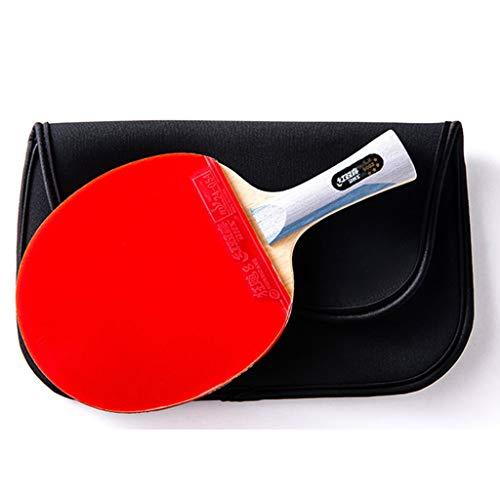Paddle Profesional De Tenis De Mesa 6 Estrellas - Paleta De Ping Pong con Estuche De Transporte - Goma Aprobada para Juego En Torneos