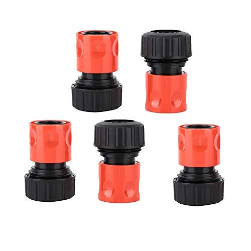 Conector rápido de Manguera, Conector de jardín Negro + Naranja, para jardín de balcón doméstico