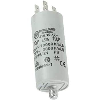 Start-up capacitor motor capacitor 14/μF 450 V 35 x 83 mm connector M8 ; Miflex; 14uF