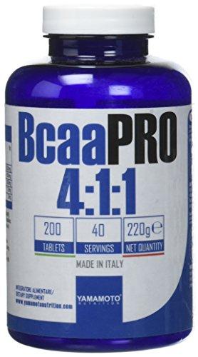 Yamamoto Nutrition Bcaa PRO 4:1:1 Kyowa® Quality integratore alimentare di aminoacidi ramificati in rapporto 4:1:1 200 compresse