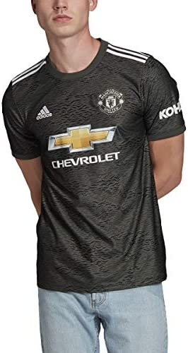 adidas Men s Manchester United 2020 21 Away Jersey Medium Legacy Green Black product image