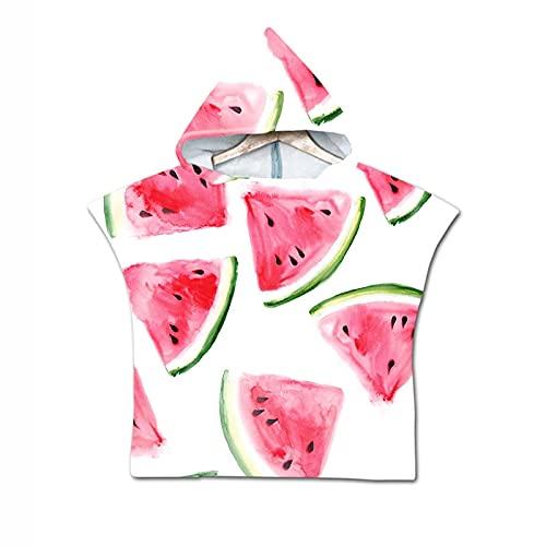 Kinderen kinderen Leuke cartoon watermeloen zomerjas handdoek strips microfiber Voor jongens meisjes zwemmen strand handdoeken