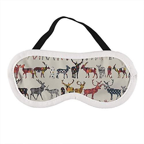 Havermout Spice Deer Slaap Oog Masker Slapende Maskers Blinddoek Katoen Oog Kussen Zacht voor Vrouwen Mannen Reizen Naps Gepersonaliseerd
