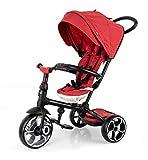 QPLAY Triciclo evolutivo Plegable Prime - Rojo - De 10 a 36 Meses - Soporta...