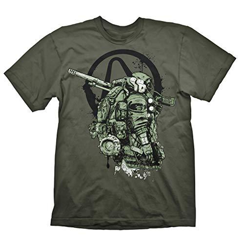 Borderlands 3 - Herren Premium T-Shirt - FL4K Logo (Olivgrau) (S-L) (S)