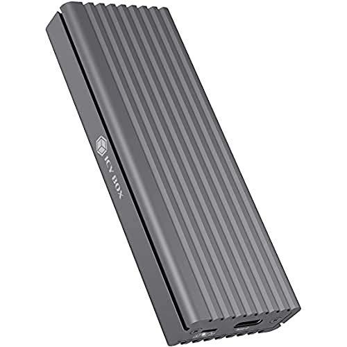 ICY BOX SSD M.2 NVMe Gehäuse, USB 3.1 (Gen2, 10 Gbit/s), Kühlsystem, USB-C, USB-A, PCIe M-Key, Aluminium, grau