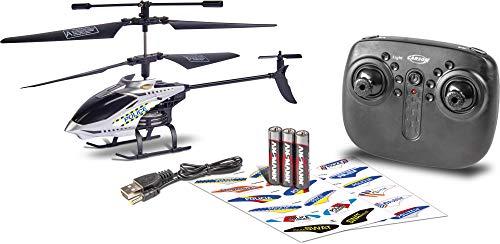 Carson 500507157 Police Tyrann 230 Gyro 2.4GHz, 100{09a055f7090c9b8405ed4d83c347cc121f8b66ff830dbd1ae43d7318448e7aff} flugfertig, Ferngesteuerter Helikopter, Einsteiger RC Hubschrauber, inkl. Batterien und Fernsteuerung