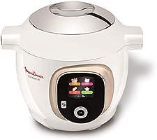 Moulinex CE851A10 - Multicooker intelligente, ad alta pressione, 6 l, 150 ricette, 6 modalità di cottura, guida passo a...