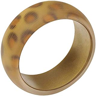 Frosted Leopard Print Resin Bangle