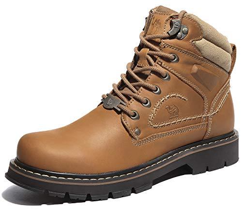 CAMEL CROWN Herren Lederstiefel Casual Short Shaft Boots rutschfeste Schnürschuhe Professionelle Arbeitsschuhe für Herren