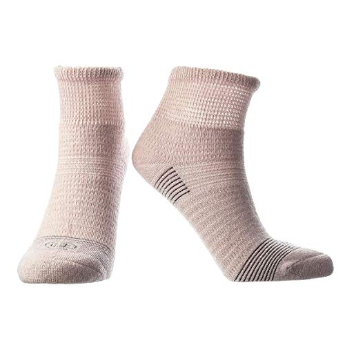 Doctor's Choice Women's Diabetic & Neuropathy Socks, Quarter Length, Non-Binding with Aloe, Antimicrobial, Ventilation, and Seamless Toe, Single Pair, Pink, Womens Medium: Shoe Size 6-10