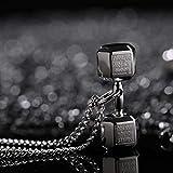 collana lver mens acciaio inossidabile bilanciere fitness ciondolo coppia catena nera collana accessori maschili gioielli sul collo