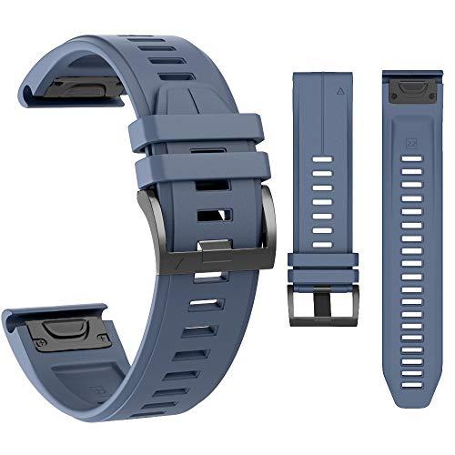 MCXGL Replacement for Garmin Fenix 5X Strap Sport Silicone Watch Bands Fenix 5X Plus/Fenix 5X / Fenix 3 / Fenix 3 HR